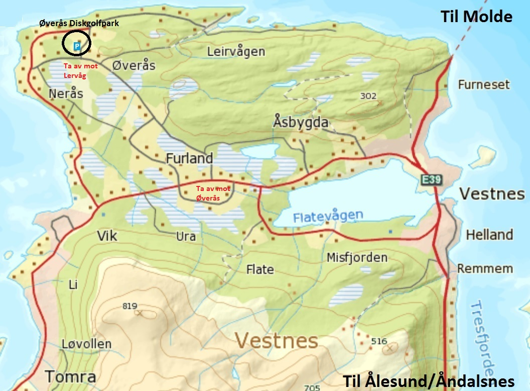 kart vestnes Praktisk info | Øverås Frisbeegolfklubb